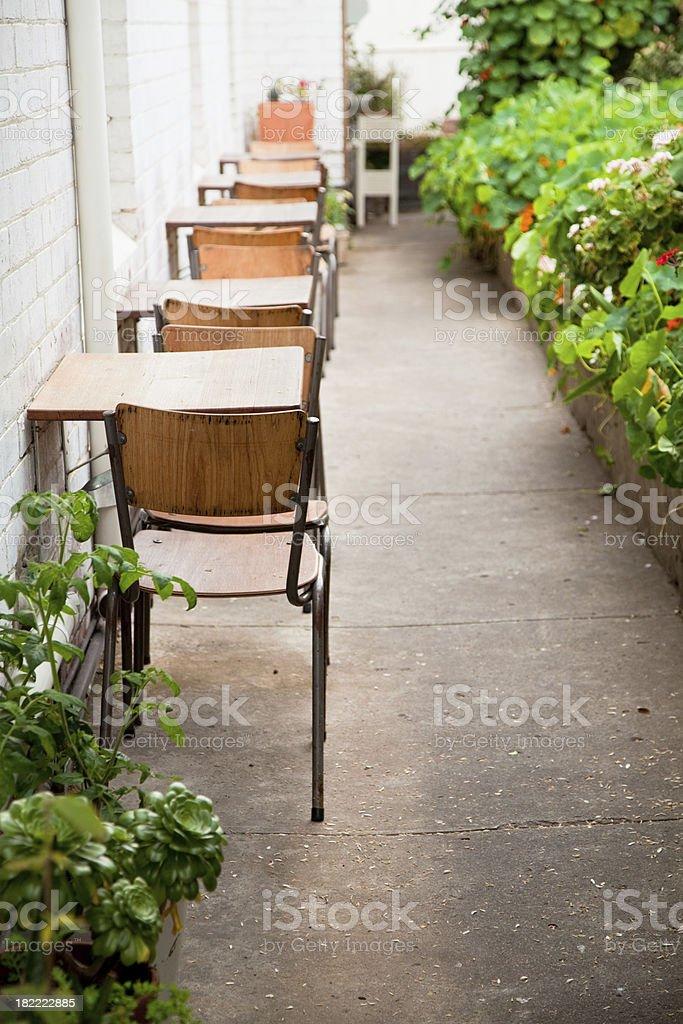 Garten-Café Lizenzfreies stock-foto