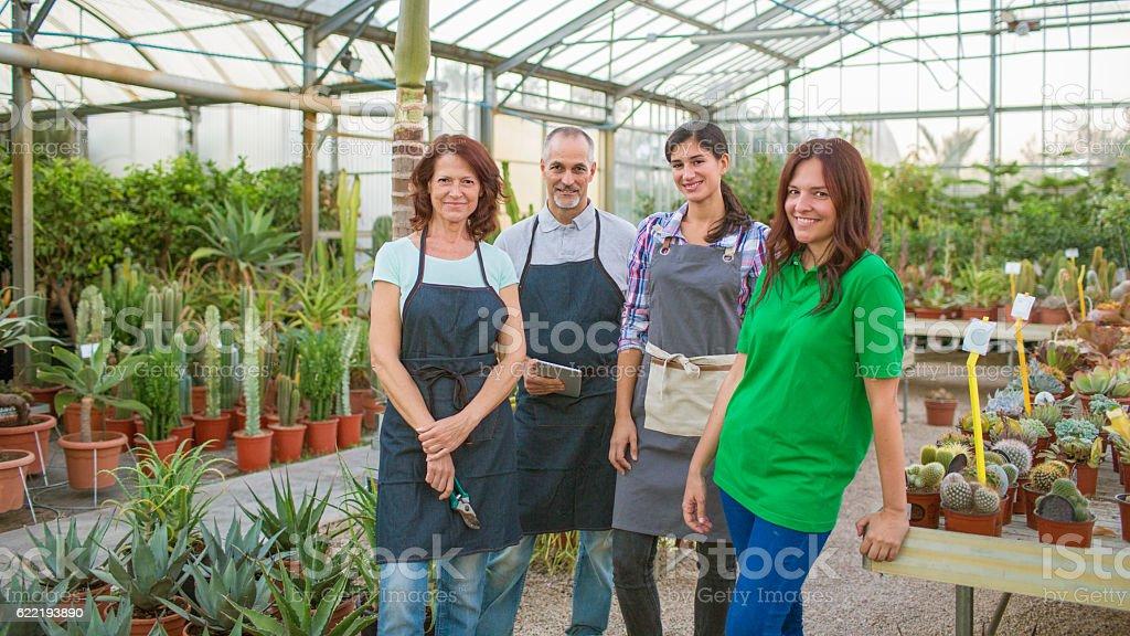 Garden center family business stock photo