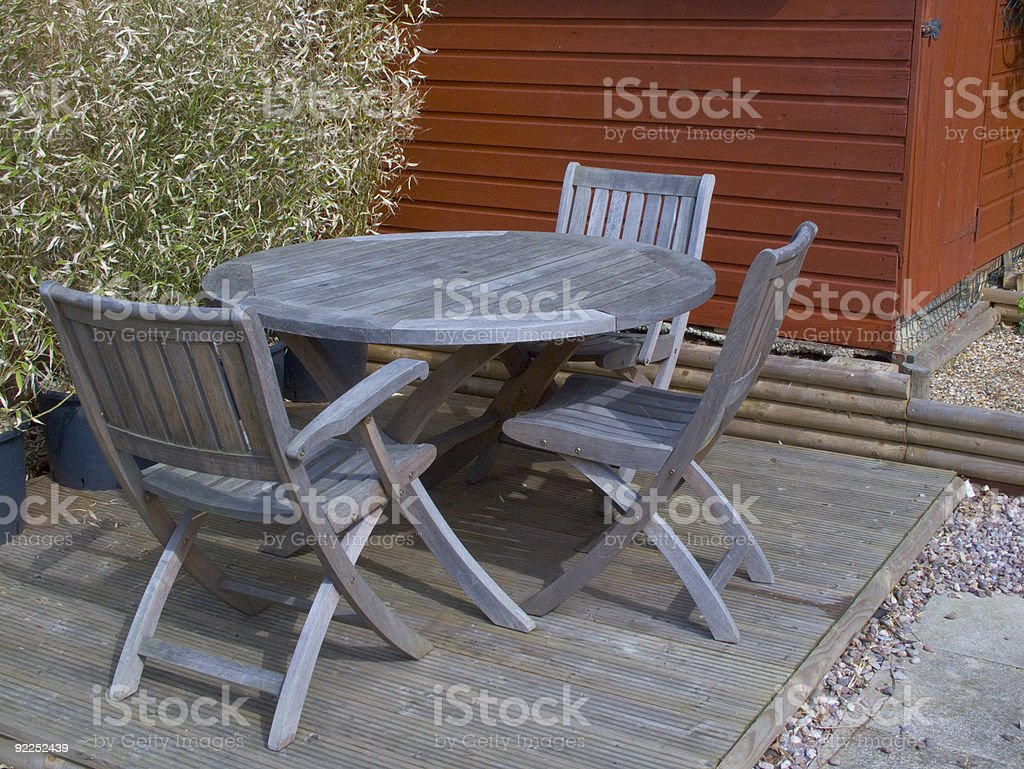 Garden Chairs and Table royalty-free stock photo