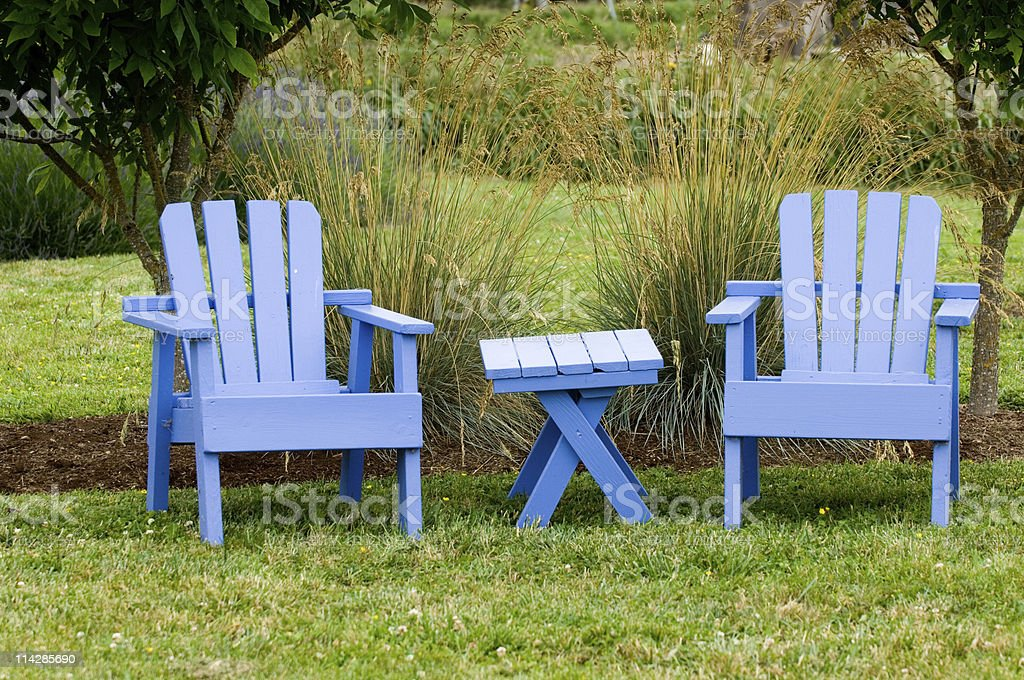 Garden chairs royalty-free stock photo