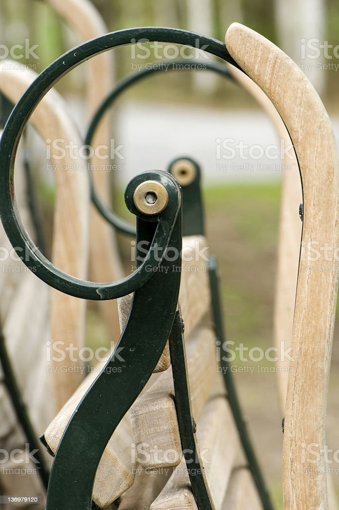 garden chairs stock photo