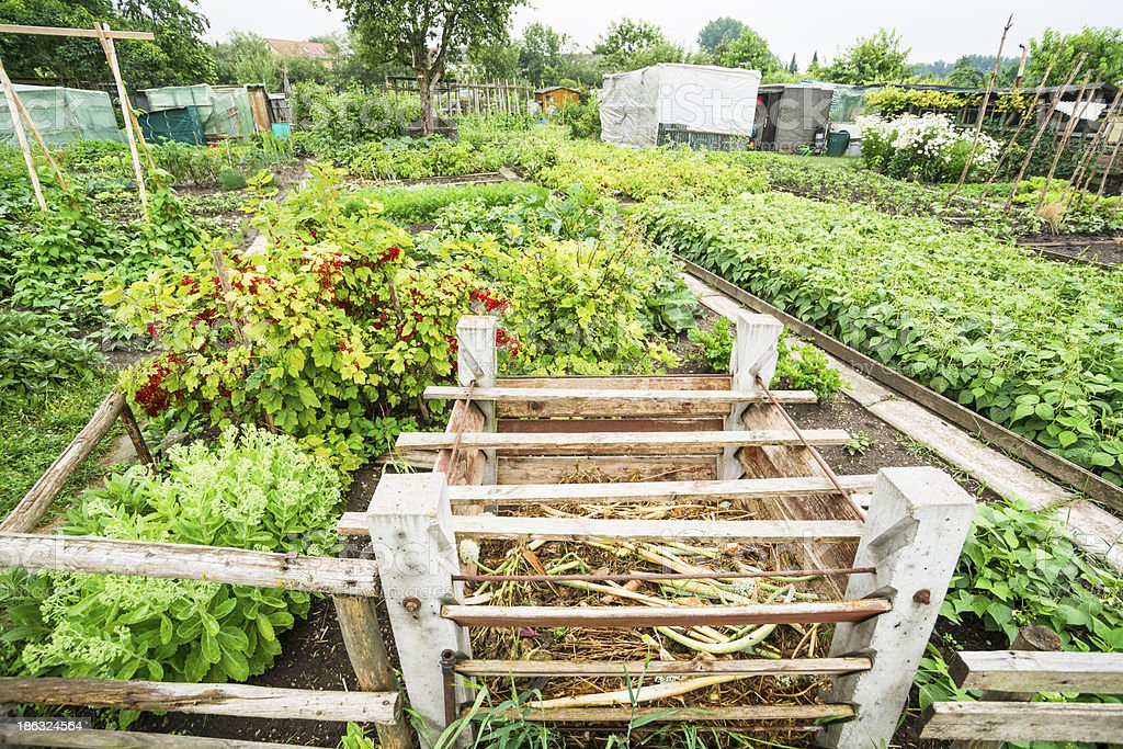 Garden Compost Bin royalty-free stock photo