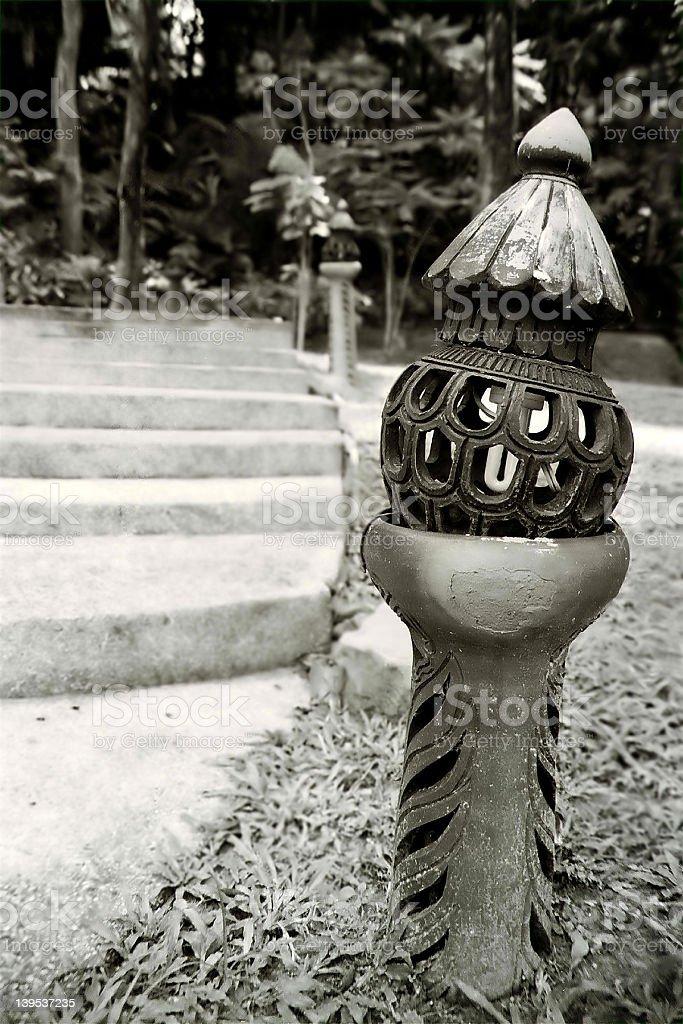 garden deco stock photo