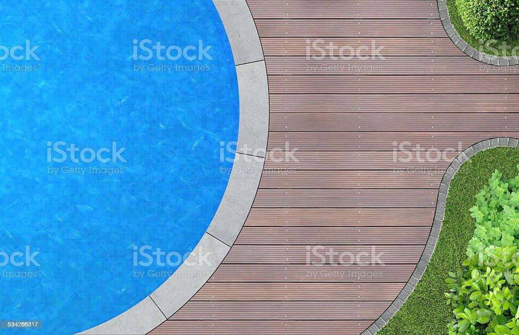 garden detail with pool stock photo