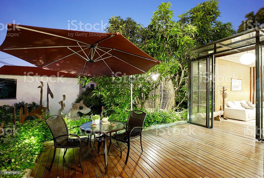 Garden District villa balcony stock photo