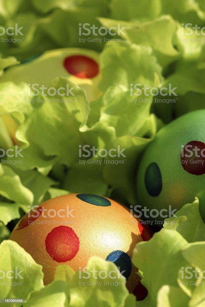 Garden Easter Eggs royalty-free stock photo