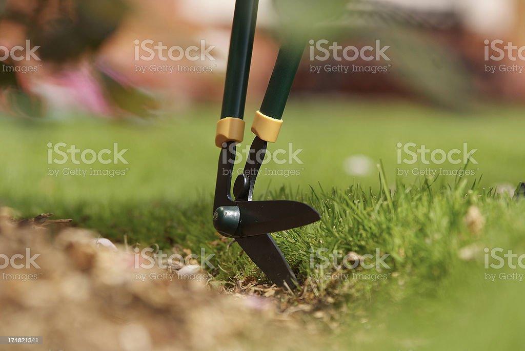 Garden edging shears royalty-free stock photo