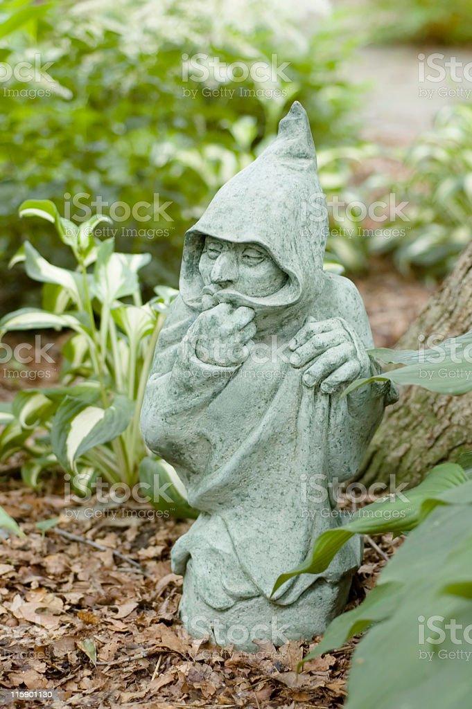 Garden Elf stock photo