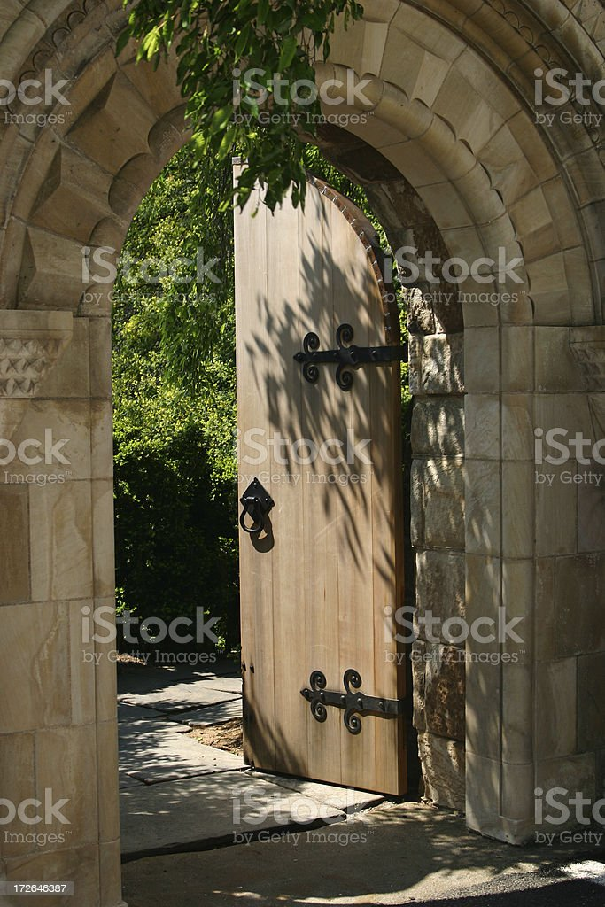 Entrance to the Bishop\'s Garden at the National Cathedral in...