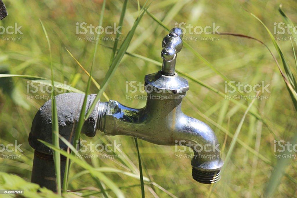 Garden Faucet Close Up stock photo