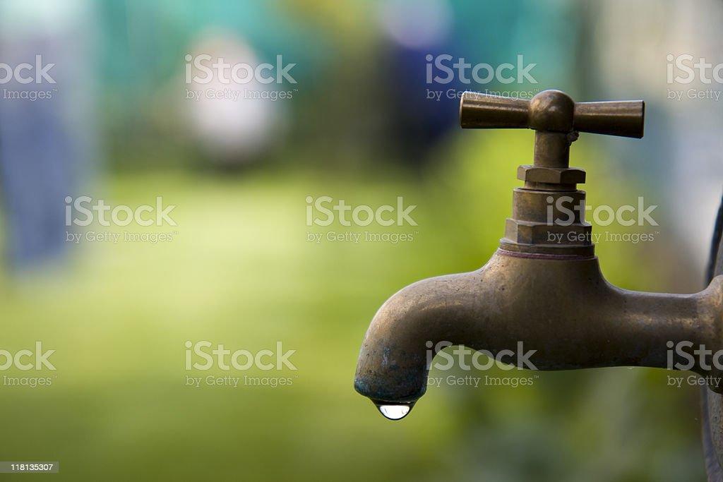 Garden faucet stock photo