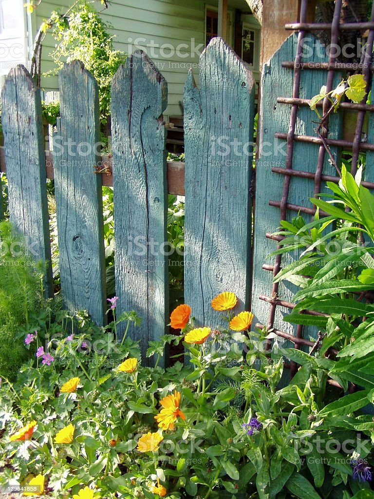 Garden Fence in Seattle royalty-free stock photo
