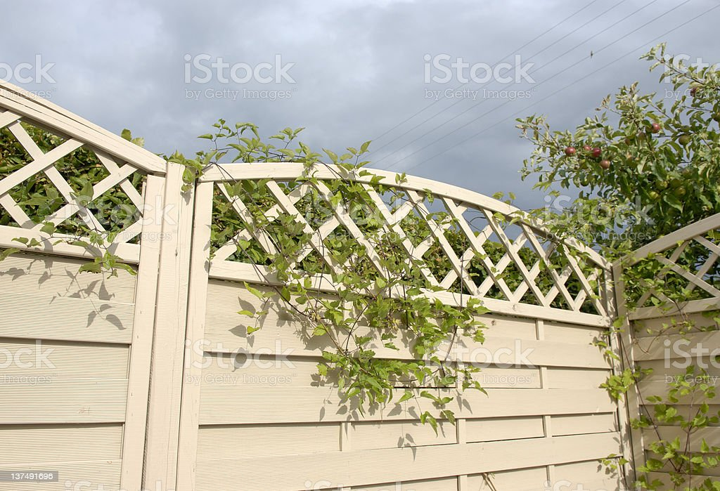 Garden Fence royalty-free stock photo