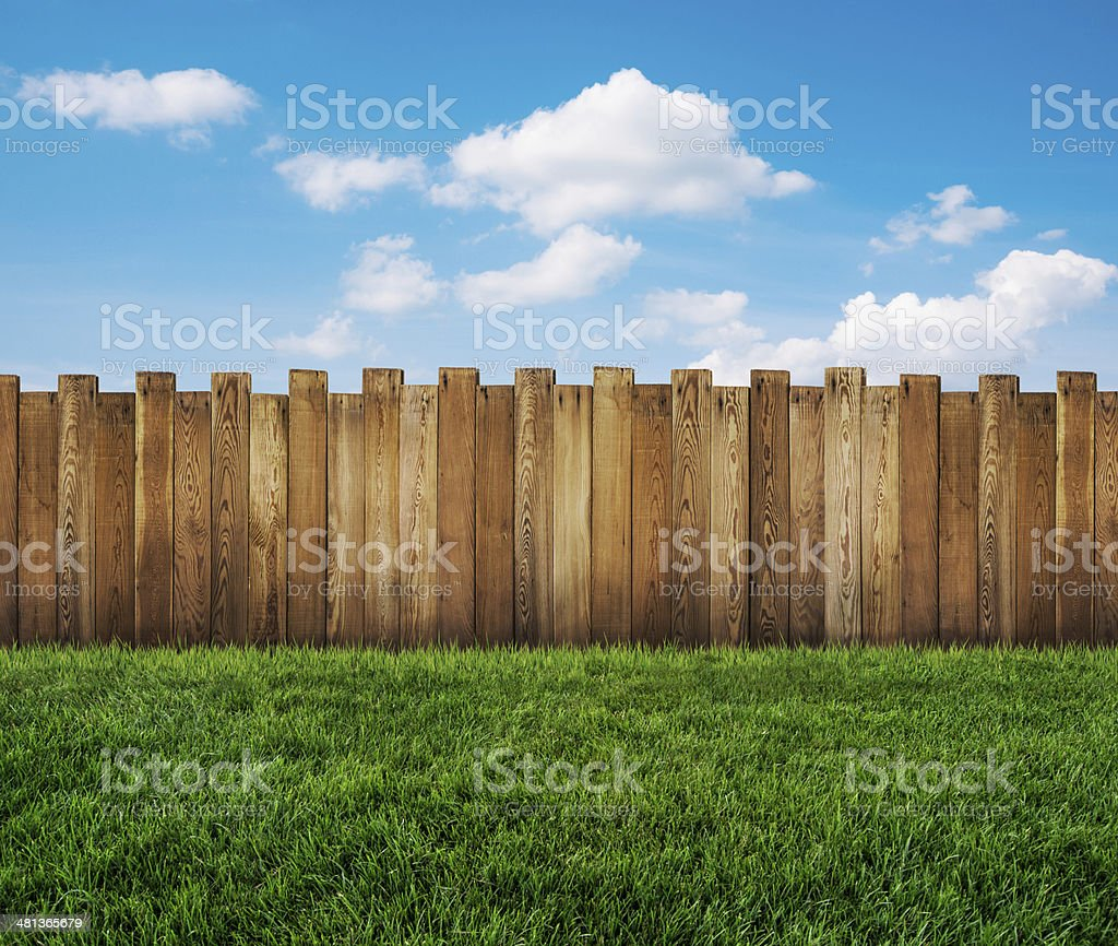 garden fence stock photo