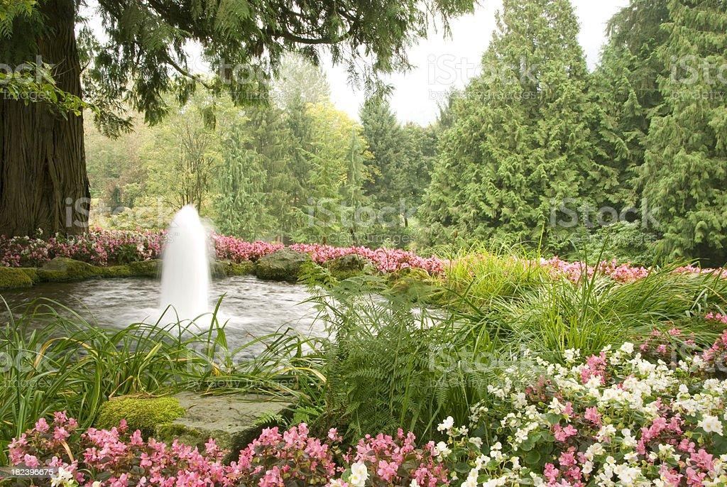 Garden Fountain royalty-free stock photo