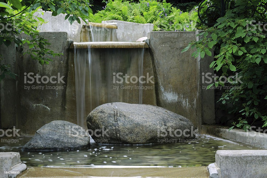 Garden Fountain royalty-free stock photo
