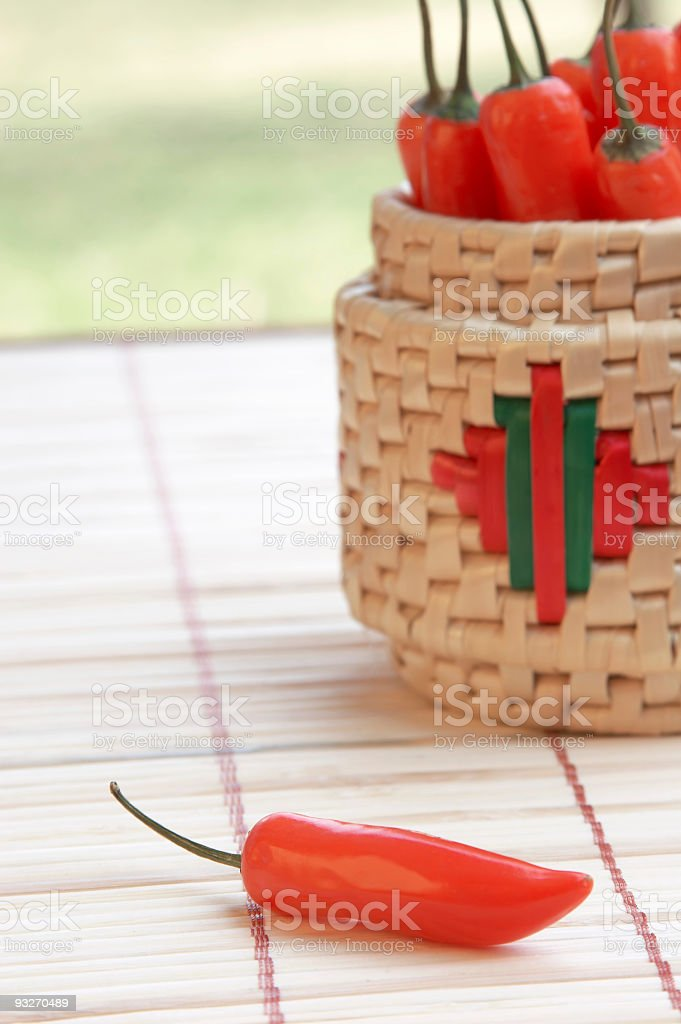 Garden Fresh Peppers stock photo
