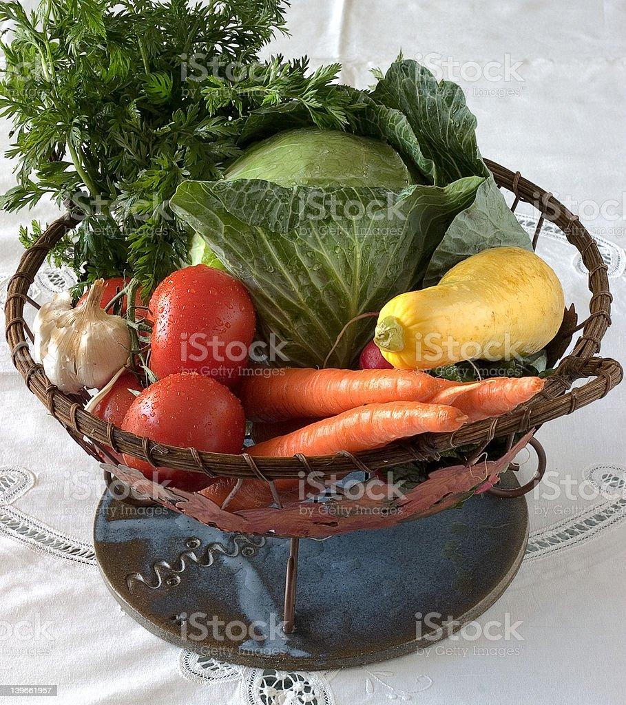 Garden Fresh Vegetables royalty-free stock photo