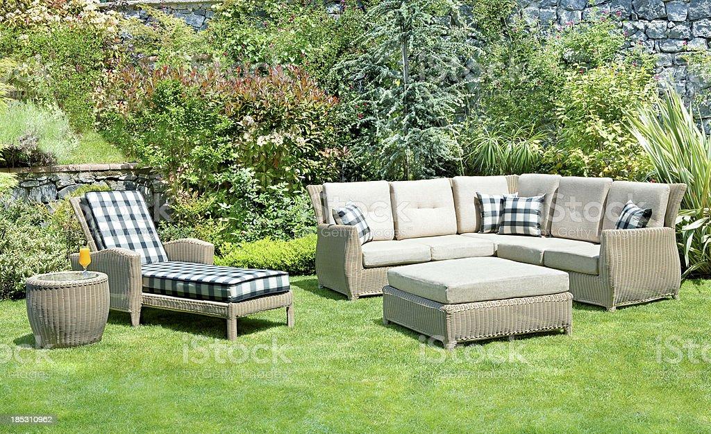 garden furniture royalty-free stock photo