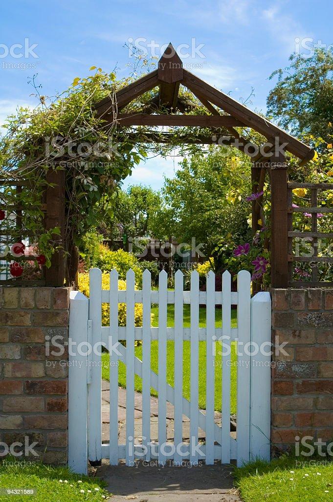 Garden gate royalty-free stock photo