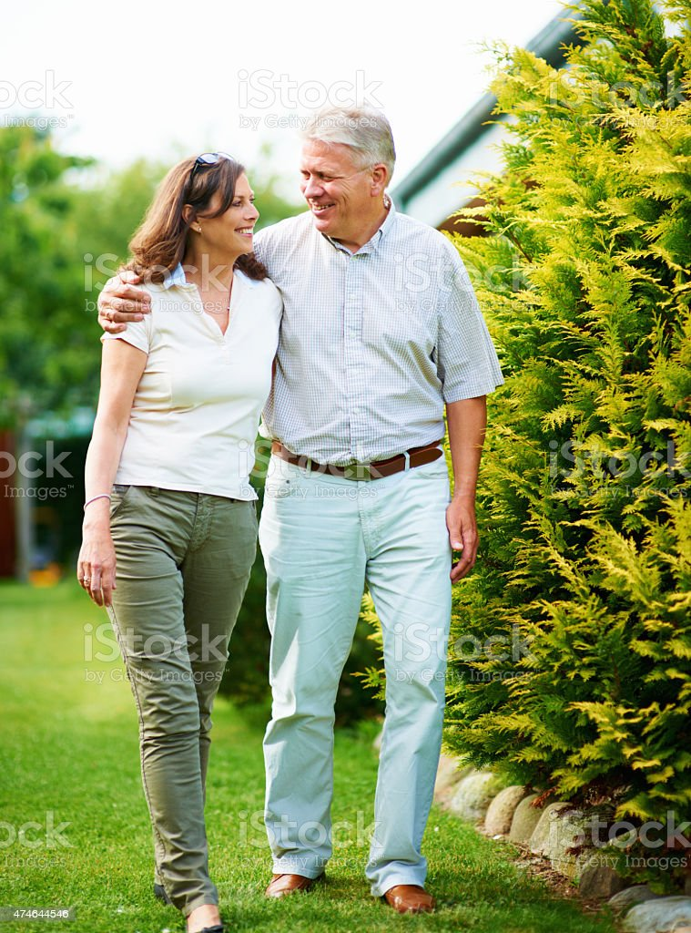 Garden getaway stock photo
