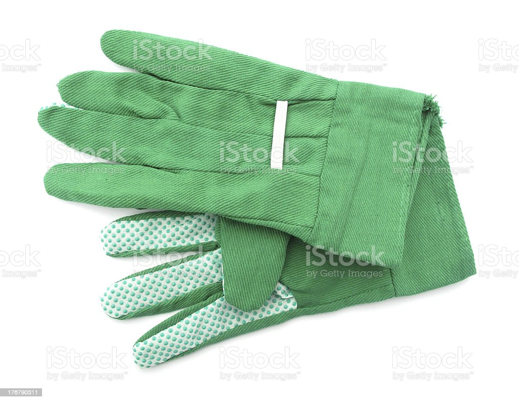 Garden gloves green royalty-free stock photo