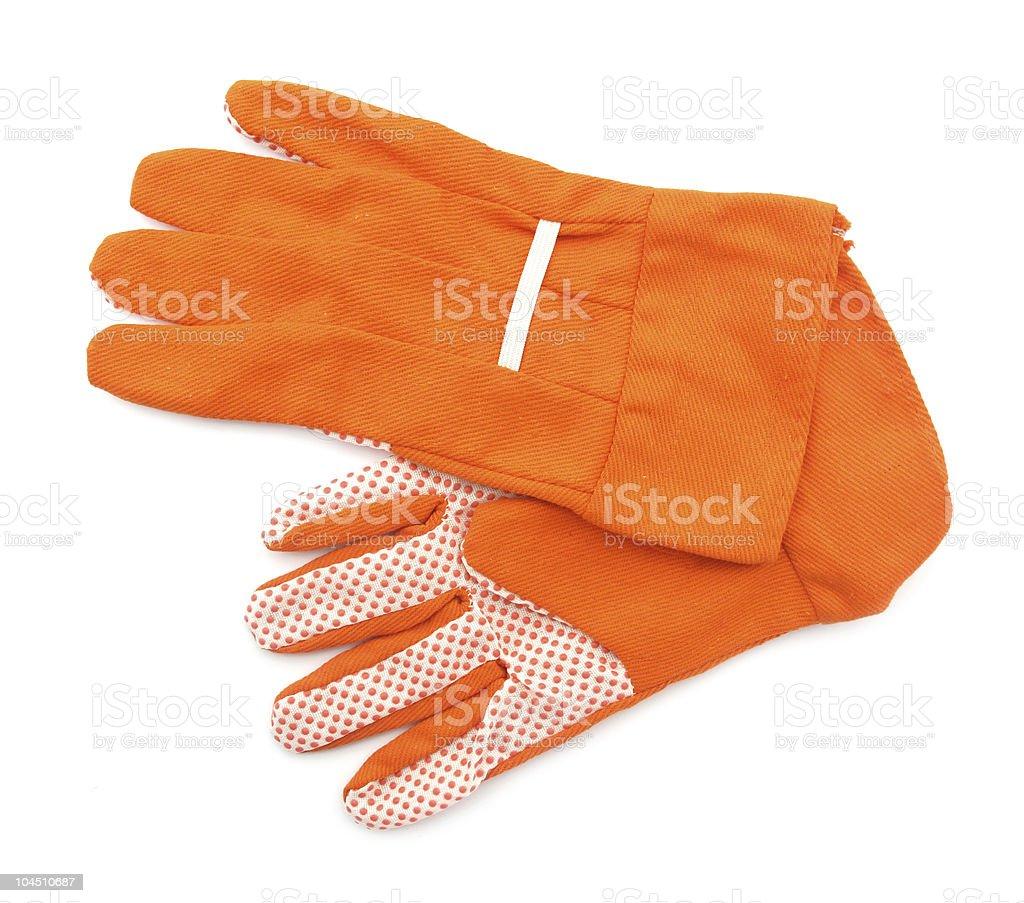 Garden gloves orange stock photo