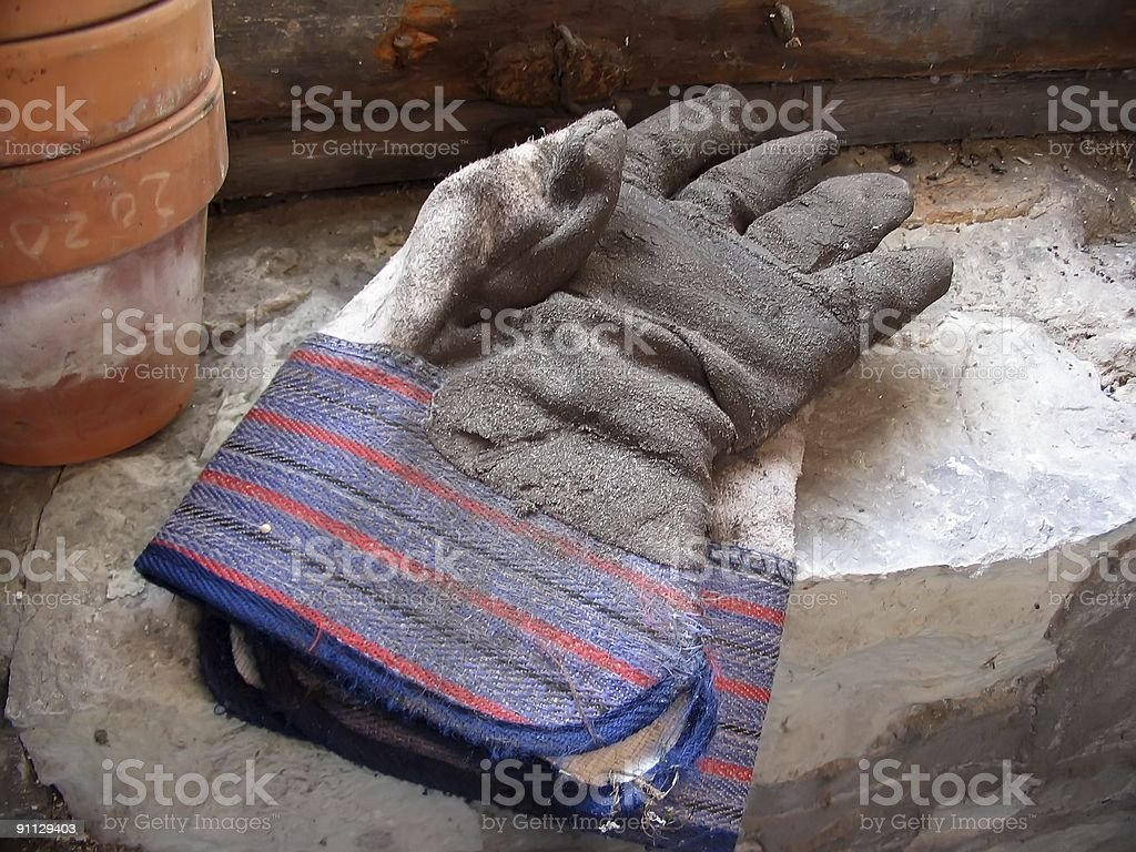 Garden Gloves royalty-free stock photo