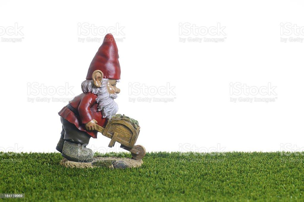 Garden Gnome working royalty-free stock photo