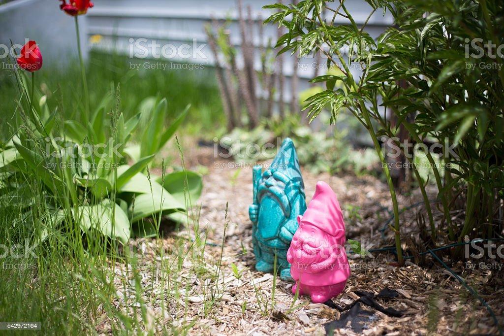 Garden Guardian Couple stock photo