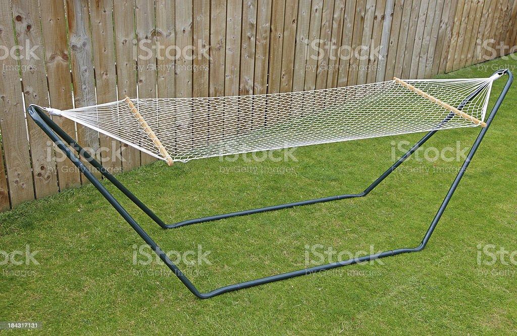 garden hammock stock photo