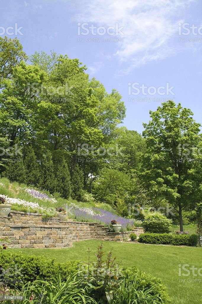 garden hillside royalty-free stock photo