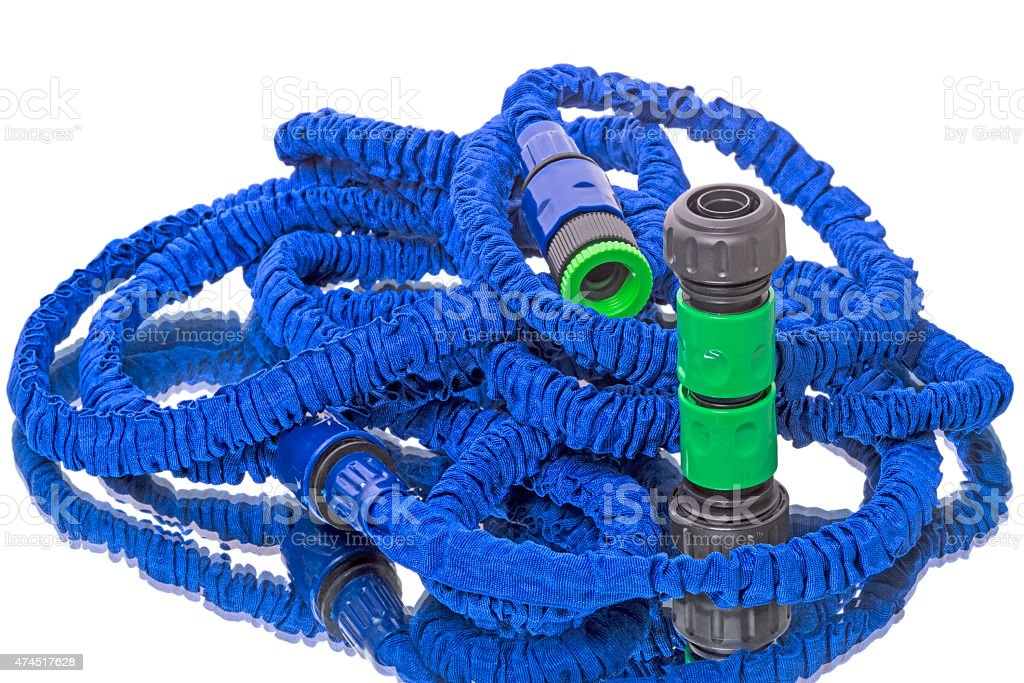 Garden Hose on white stock photo