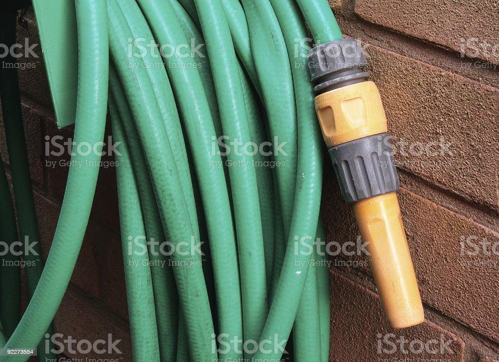 Garden hose royalty-free stock photo