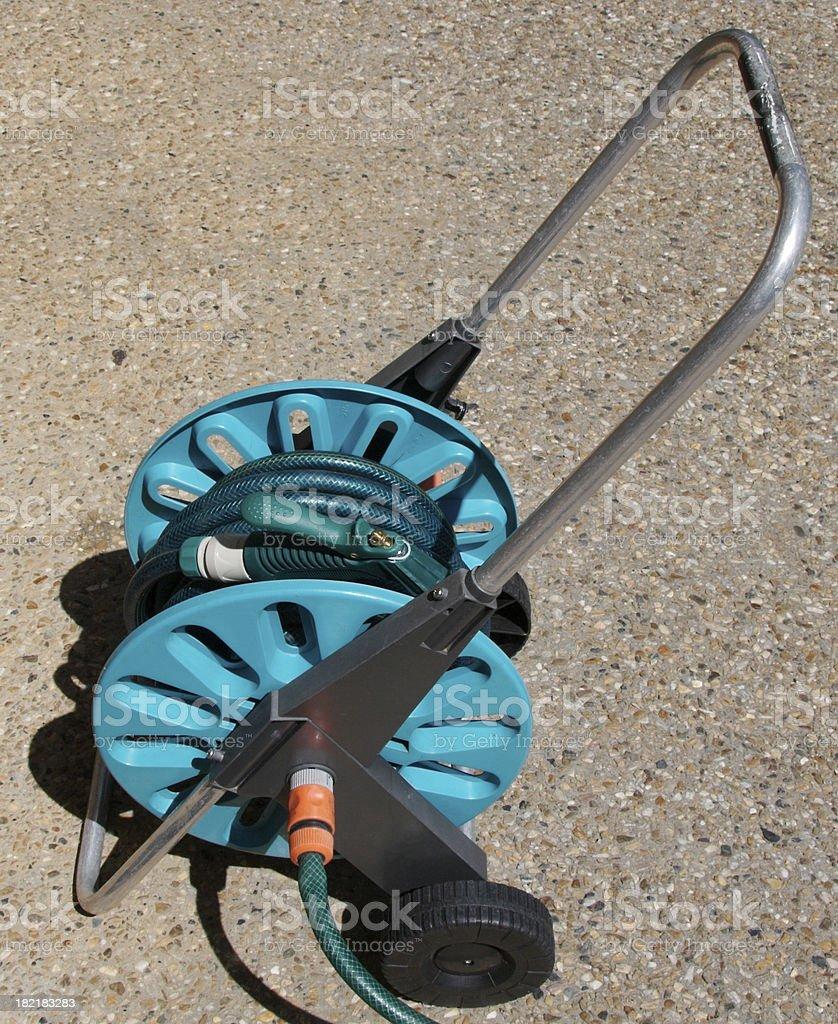 Garden hose reel 2 stock photo