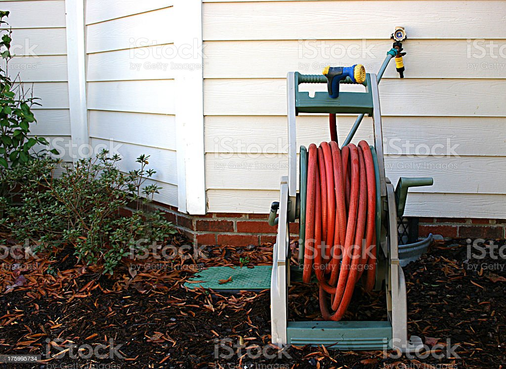 Garden Hose Reel Front View - Photo Request royalty-free stock photo