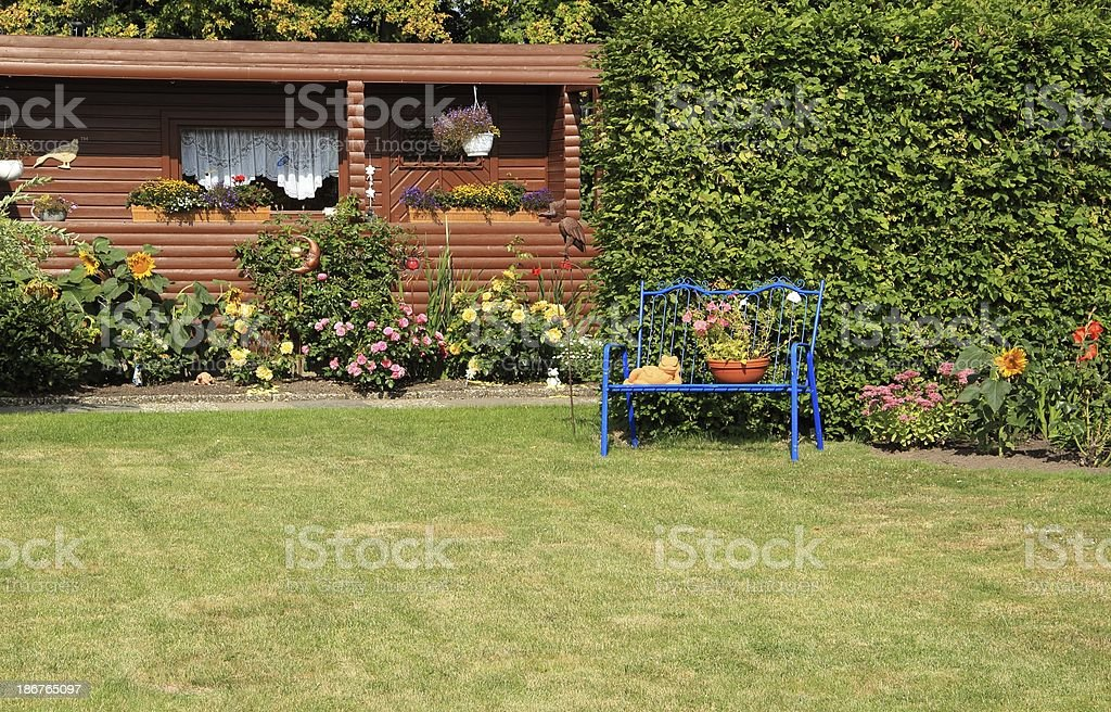 Garden idyll stock photo