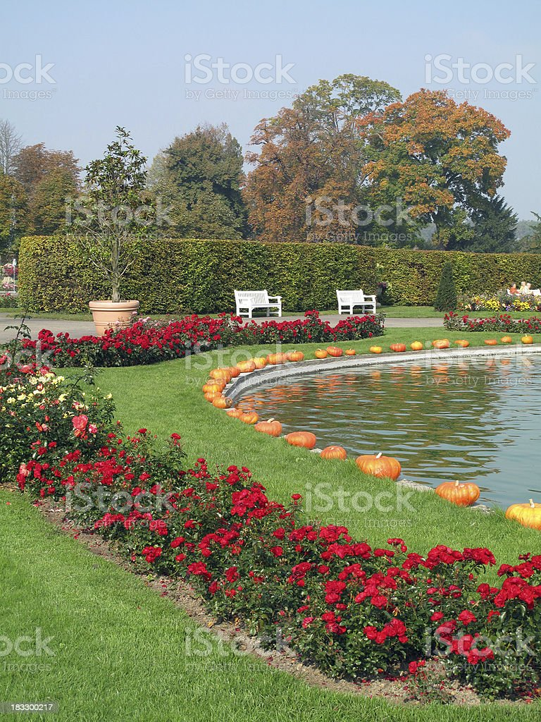 Garden in Ludwigsburg stock photo