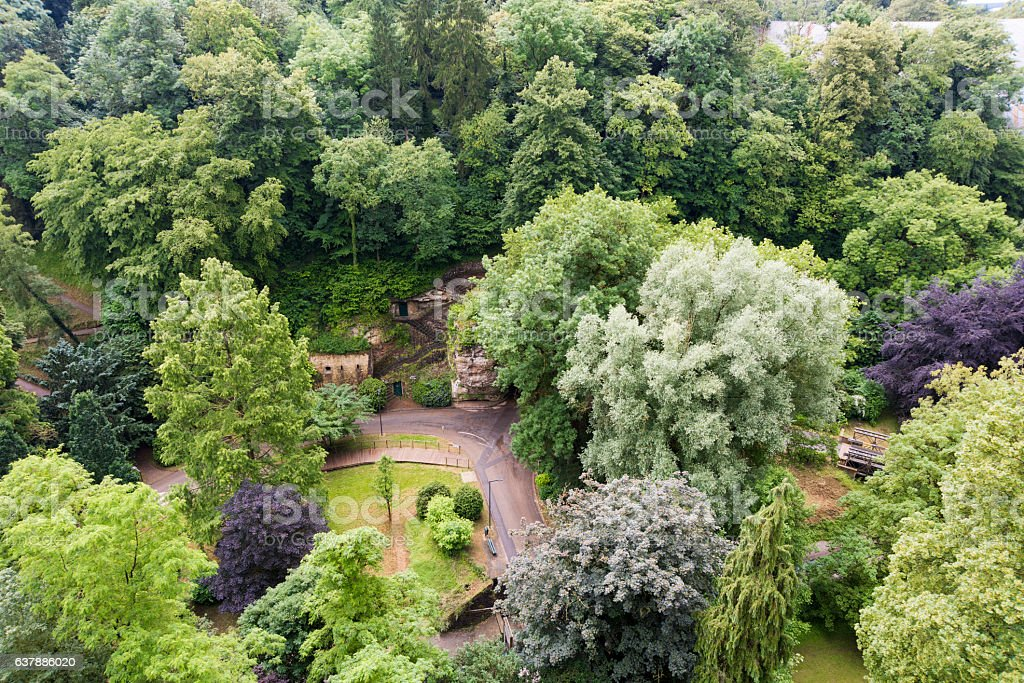 Garden in Luxembourg City stock photo