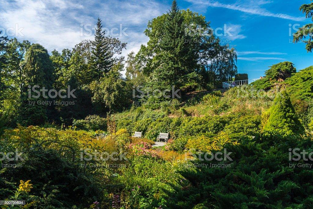 garden in Petrin Hil stock photo
