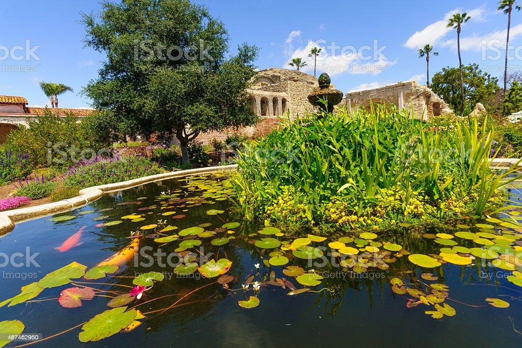 Garden in San Juan Capistrano stock photo