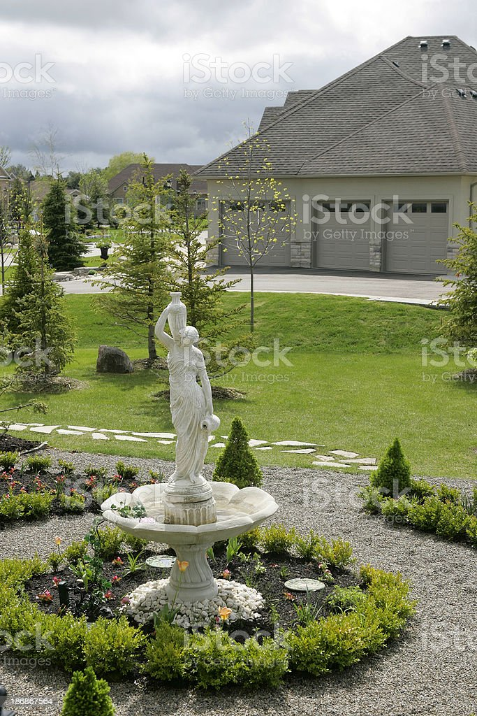 Garden in suburbia royalty-free stock photo