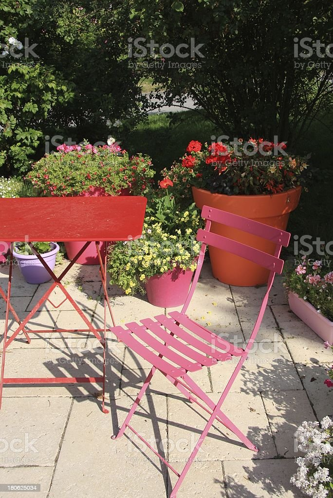 garden in summer stock photo