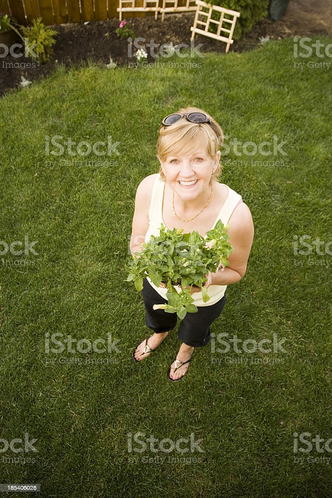 Garden lady royalty-free stock photo