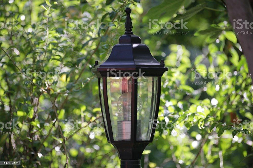 Garden Lamp stock photo