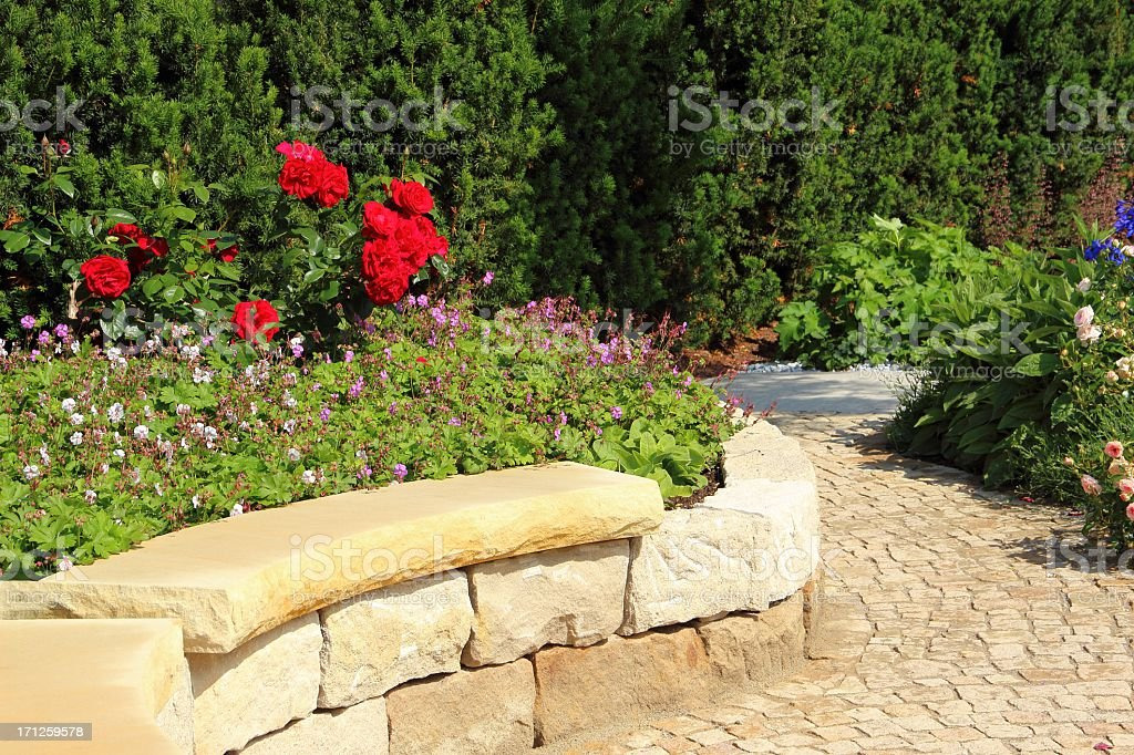 Garden landscape stock photo