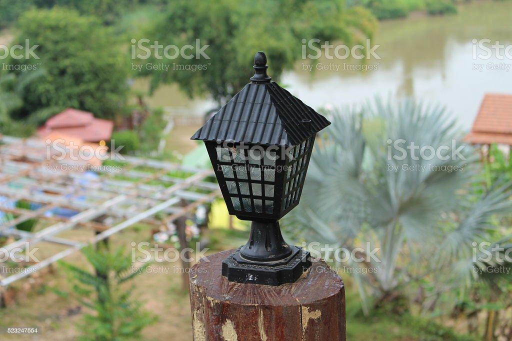 garden light bulb stock photo