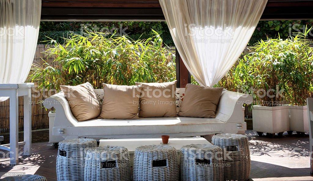 Garden lounge stock photo