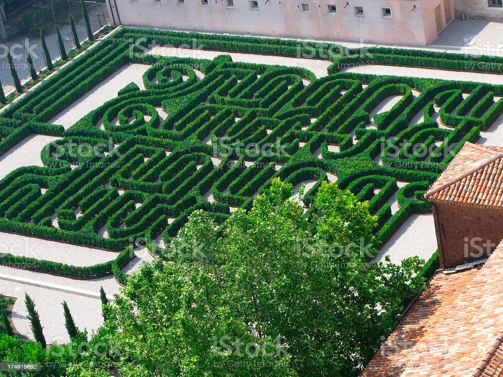 Garden Maze royalty-free stock photo