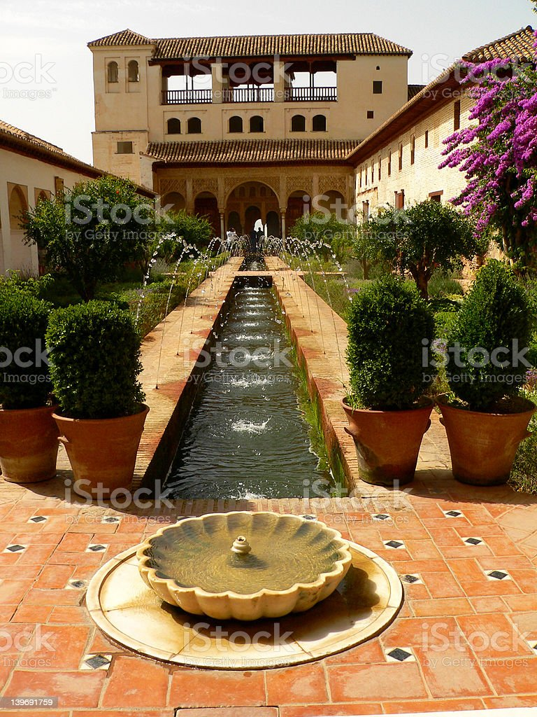 Garden of Alhambra stock photo